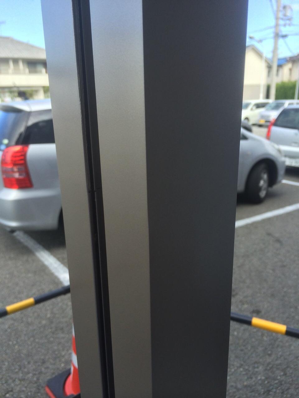 サッシ柱の補修